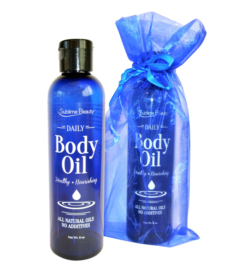 2 Daily Body Oils and organza